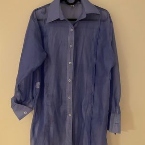 Vintage oversized see-thru blouse